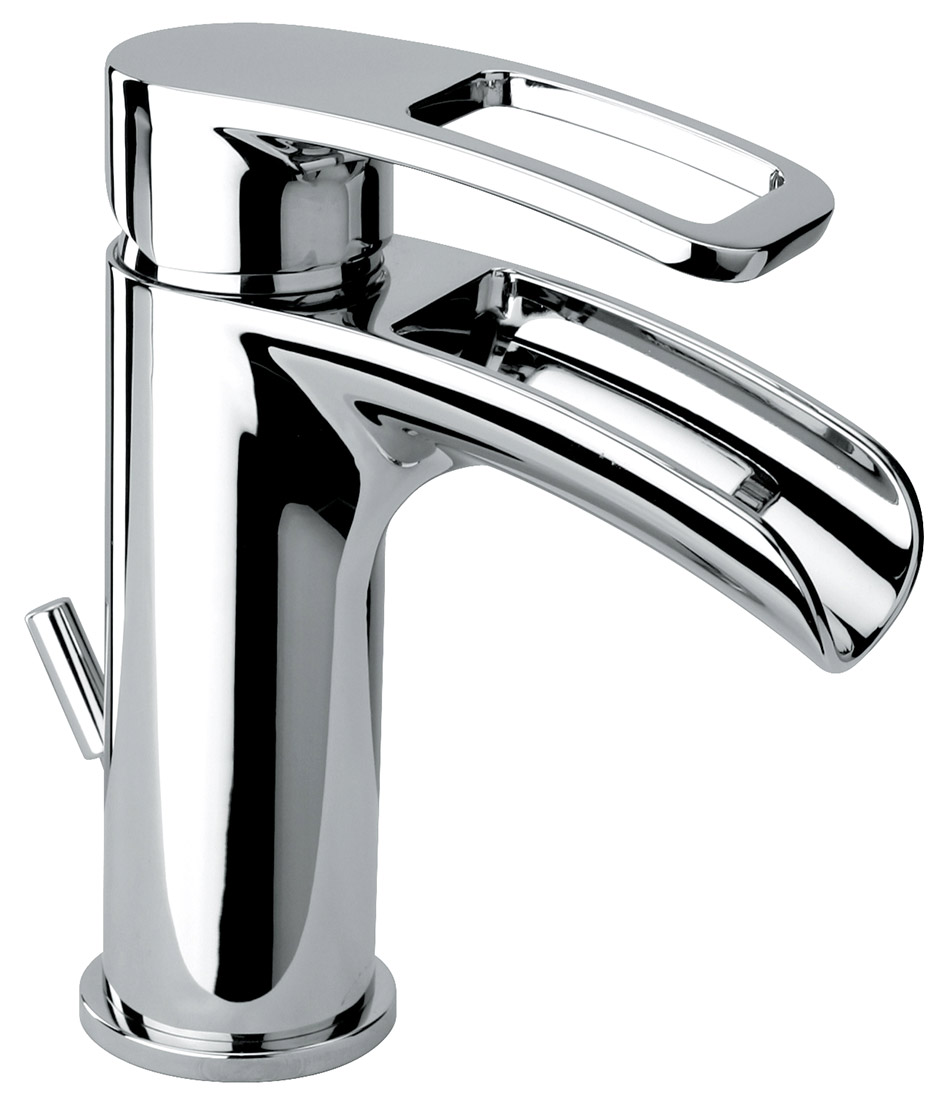 Single Hole Lavatory Faucet With 1 1/4u0027u0027 Pop Up Waste. Made Of Solid Brass.  Large Body. Braided Stainless Steel Flexible Water Lines.