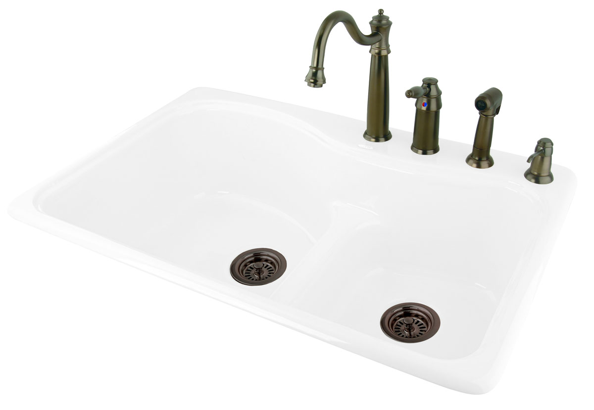Ceco sinks kitchen sink - Requires Only Silicone Sealent To Properly Install The Sink To The Countertop Faucet And Drain Not Included