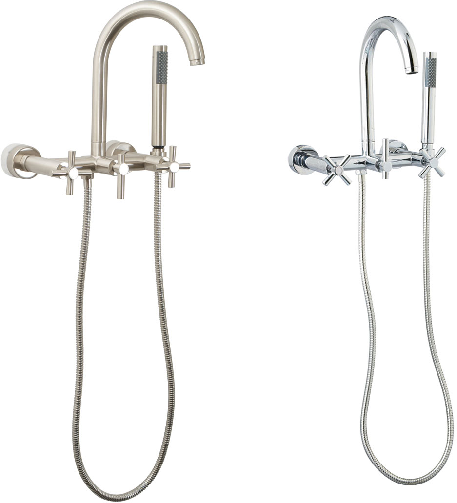New Free Standing Floor Mount Tub Fillers | Clawfoot Tub Faucets  YA52