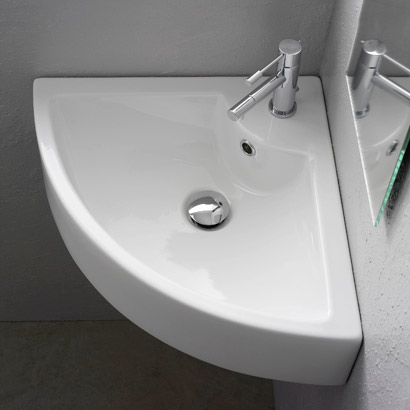 Nameeks Square 8007 E Art Suspended Or Supported Corner Basin 18 5 X Single Hole Faucet Drilling