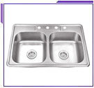 Double Bowl Self-Rimming Sinks